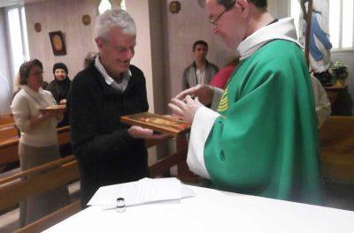 Sesión de pintura de iconos y bendición en el Petit Couvent Lourdes