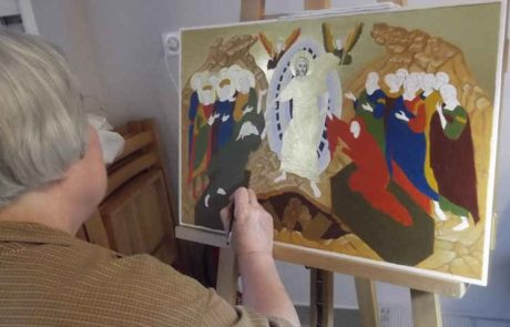 Icons painting session and Blessing at Petit Couvent in Lourdes